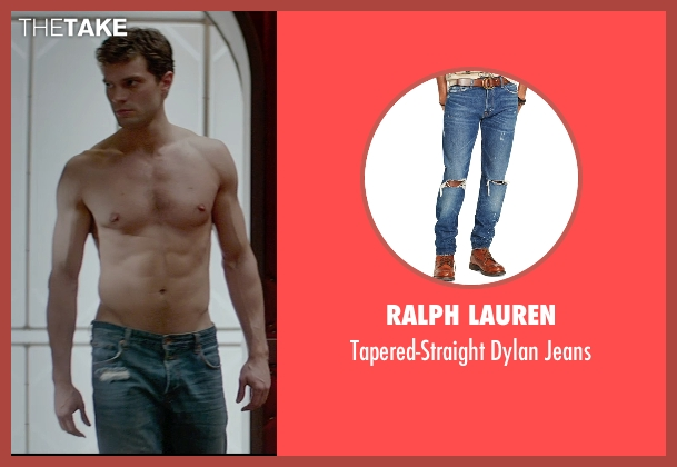 Ralph Lauren blue jeans from Fifty Shades of Grey seen with Jamie Dornan (Christian Grey)