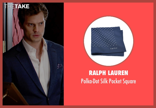 Ralph Lauren blue square from Fifty Shades of Grey seen with Jamie Dornan (Christian Grey)