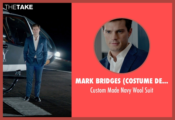 Mark Bridges (Costume Designer) blue suit from Fifty Shades of Grey seen with Jamie Dornan (Christian Grey)