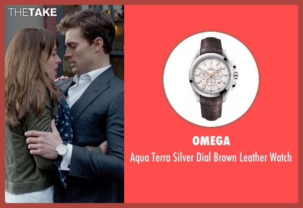 Omega brown watch from Fifty Shades of Grey seen with Jamie Dornan (Christian Grey)