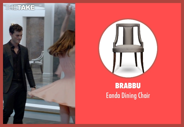 Brabbu gray chair from Fifty Shades of Grey seen with Jamie Dornan (Christian Grey)