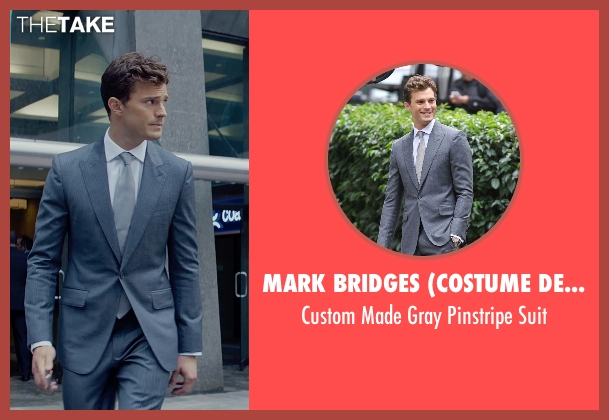 Mark Bridges (Costume Designer) gray suit from Fifty Shades of Grey seen with Jamie Dornan (Christian Grey)