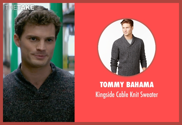 Tommy Bahama gray sweater from Fifty Shades of Grey seen with Jamie Dornan (Christian Grey)