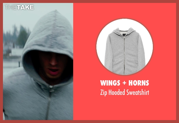 Wings + Horns gray sweatshirt from Fifty Shades of Grey seen with Jamie Dornan (Christian Grey)