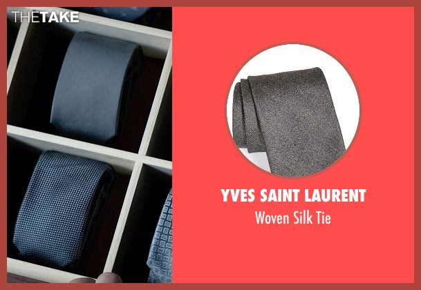 Yves Saint Laurent gray tie from Fifty Shades of Grey seen with Jamie Dornan (Christian Grey)