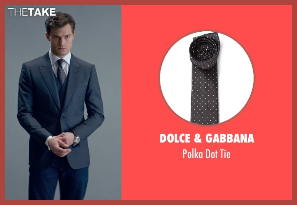 Dolce & Gabbana gray tie from Fifty Shades of Grey seen with Jamie Dornan (Christian Grey)