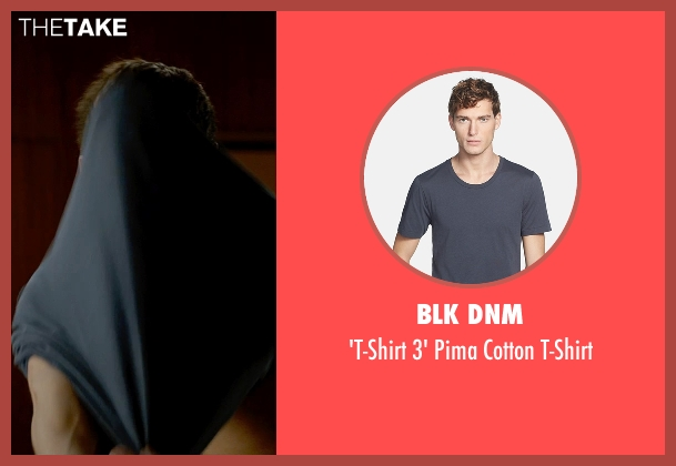 BLK DNM gray t-shirt from Fifty Shades of Grey seen with Jamie Dornan (Christian Grey)