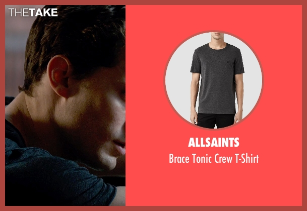 AllSaints gray t-shirt from Fifty Shades of Grey seen with Jamie Dornan (Christian Grey)