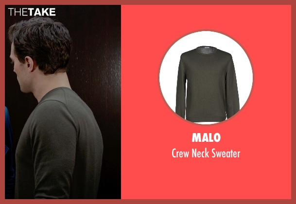 Malo green sweater from Fifty Shades of Grey seen with Jamie Dornan (Christian Grey)