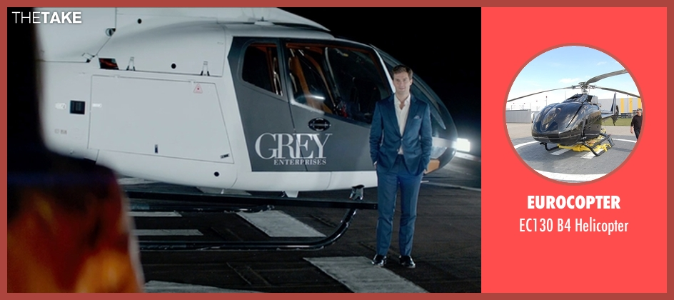 Eurocopter helicopter from Fifty Shades of Grey seen with Jamie Dornan (Christian Grey)