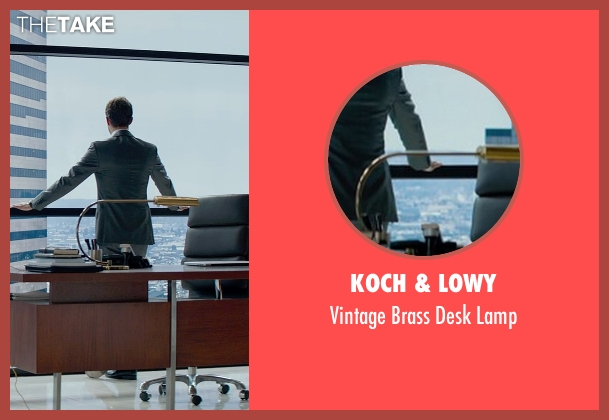Koch & Lowy lamp from Fifty Shades of Grey seen with Jamie Dornan (Christian Grey)
