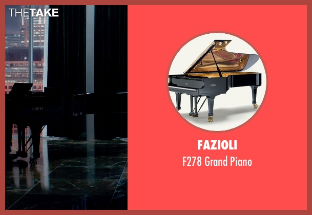 Fazioli piano from Fifty Shades of Grey seen with Jamie Dornan (Christian Grey)