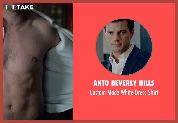 Anto Beverly Hills white shirt from Fifty Shades of Grey seen with Jamie Dornan (Christian Grey)
