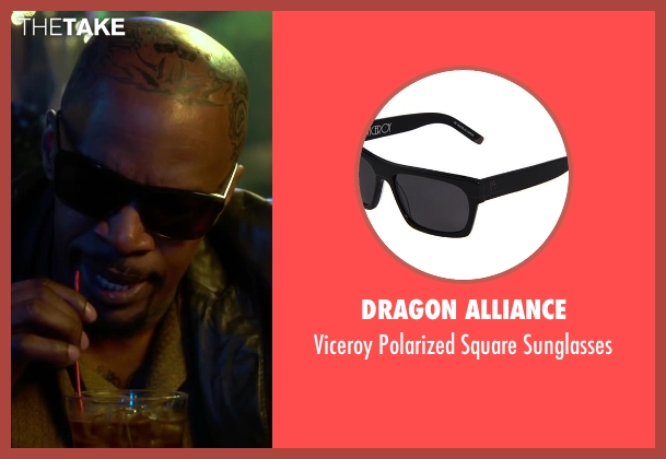 Dragon Alliance black sunglasses from Horrible Bosses 2 seen with Jamie Foxx (Dean 'MF' Jones)