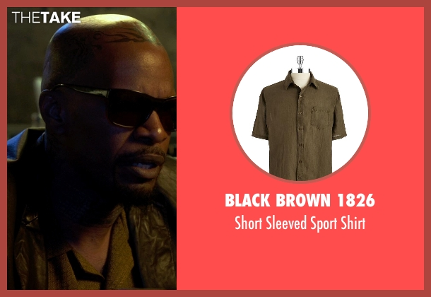 Black Brown 1826 brown shirt from Horrible Bosses 2 seen with Jamie Foxx (Dean 'MF' Jones)
