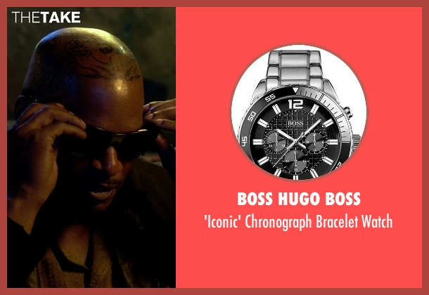 Boss Hugo Boss silver watch from Horrible Bosses 2 seen with Jamie Foxx (Dean 'MF' Jones)
