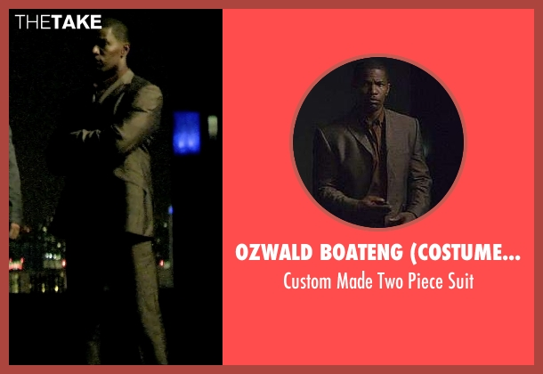 Ozwald Boateng (Costume Designer) gray suit from Miami Vice seen with Jamie Foxx (Ricardo Tubbs)