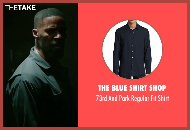 The Blue Shirt Shop black shirt from Sleepless seen with Jamie Foxx (Vincent Downs)