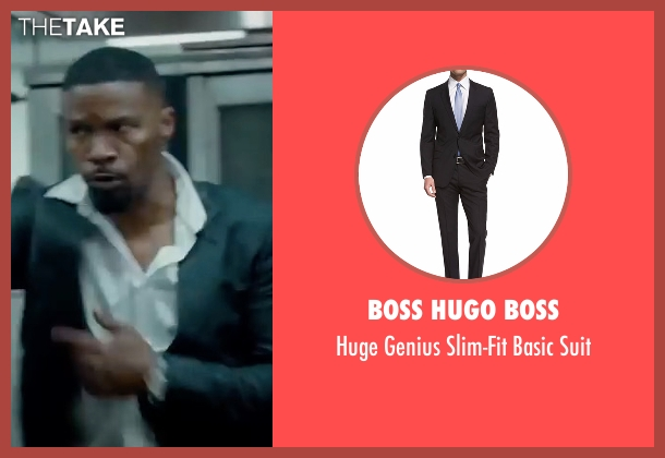 Boss Hugo Boss black suit from Sleepless seen with Jamie Foxx (Vincent Downs)