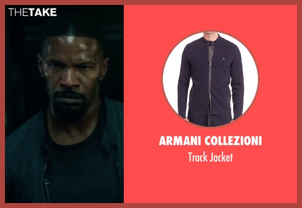 Armani Collezioni blue jacket from Sleepless seen with Jamie Foxx (Vincent Downs)