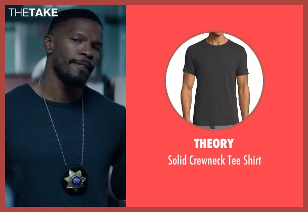 Theory gray shirt from Sleepless seen with Jamie Foxx (Vincent Downs)