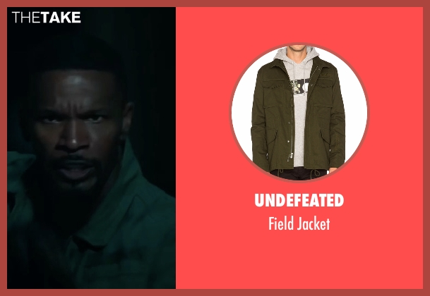 Undefeated green jacket from Sleepless seen with Jamie Foxx (Vincent Downs)