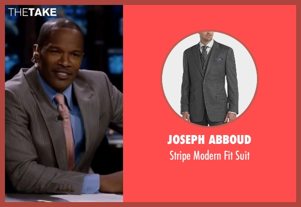 Joseph Abboud gray suit from Valentine's Day seen with Jamie Foxx (Kelvin Moore)