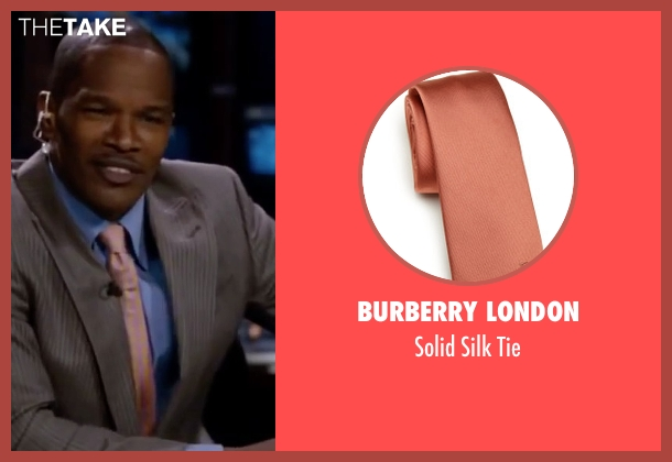 Burberry London pink tie from Valentine's Day seen with Jamie Foxx (Kelvin Moore)