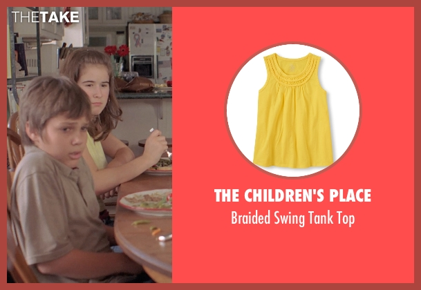 The Children's Place yellow top from Boyhood seen with Jamie Howard (Mindy)