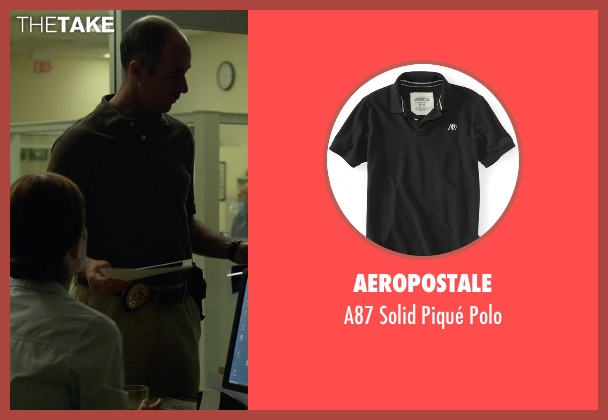 Aeropostale black polo from Gone Girl seen with Jamie McShane (Donnelly)