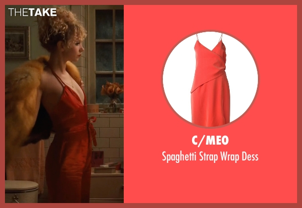 C/Meo red dess from Vinyl seen with Jamie Vine (Juno Temple)