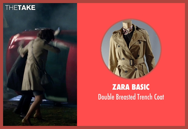 Zara Basic beige coat from Poltergeist seen with Jane Adams (Dr. Claire Powell)