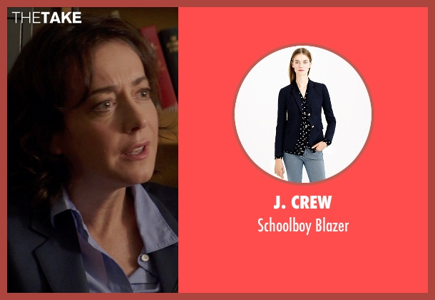 J. Crew blue blazer from Poltergeist seen with Jane Adams (Dr. Claire Powell)
