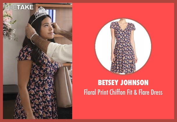 Betsey Johnson blue dress from Jane the Virgin seen with Jane Villanueva (Gina Rodriguez)