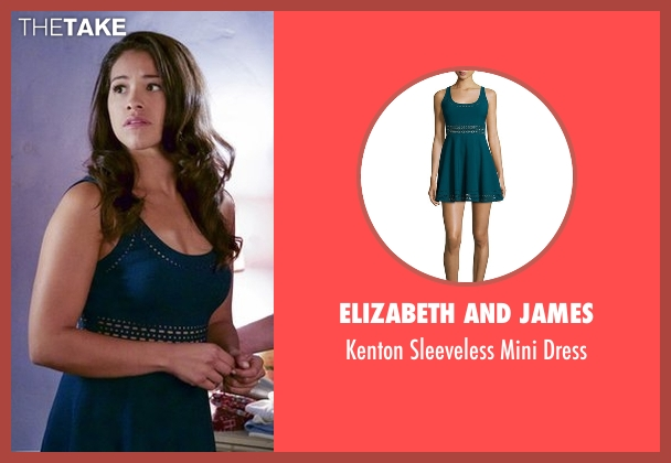 Elizabeth and James blue dress from Jane the Virgin seen with Jane Villanueva (Gina Rodriguez)