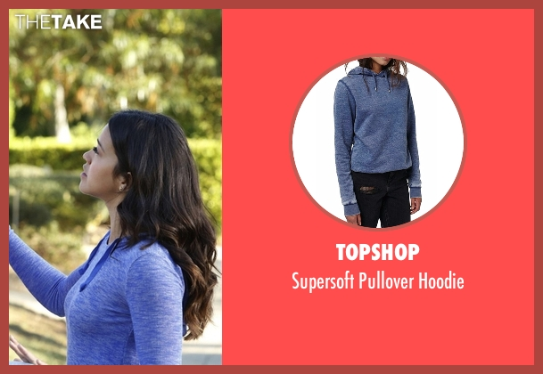 Topshop blue hoodie from Jane the Virgin seen with Jane Villanueva (Gina Rodriguez)