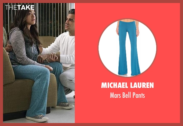 Sonoma  blue pants from Jane the Virgin seen with Jane Villanueva (Gina Rodriguez)