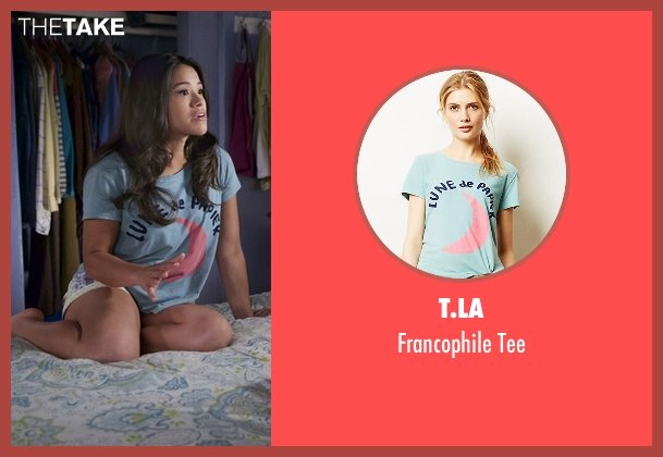 T.La blue tee from Jane the Virgin seen with Jane Villanueva (Gina Rodriguez)