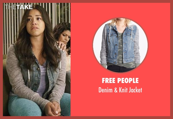Free People gray jacket from Jane the Virgin seen with Jane Villanueva (Gina Rodriguez)