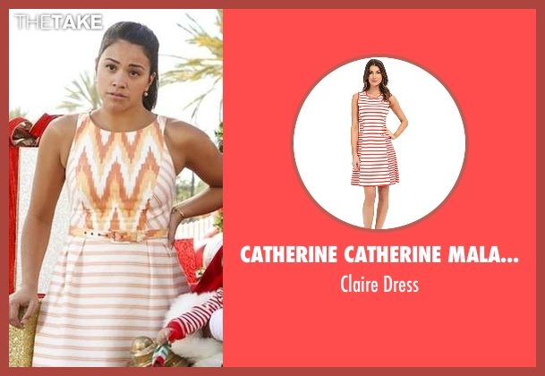 Catherine Catherine Malandrino orange dress from Jane the Virgin seen with Jane Villanueva (Gina Rodriguez)
