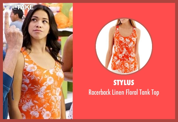 Stylus orange top from Jane the Virgin seen with Jane Villanueva (Gina Rodriguez)