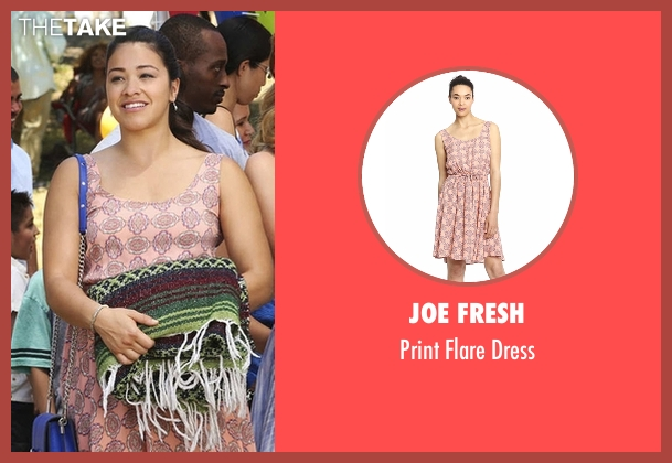 Joe Fresh pink dress from Jane the Virgin seen with Jane Villanueva (Gina Rodriguez)