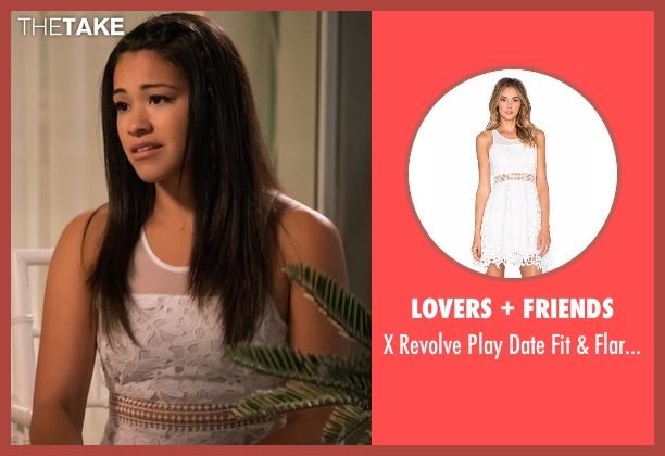 Lovers + Friends white dress from Jane the Virgin seen with Jane Villanueva (Gina Rodriguez)