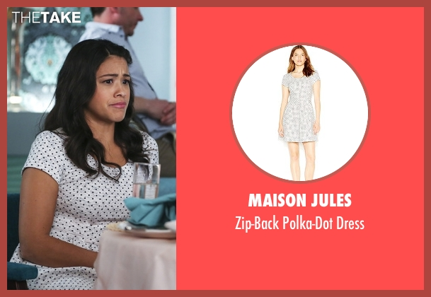 Maison Jules white dress from Jane the Virgin seen with Jane Villanueva (Gina Rodriguez)