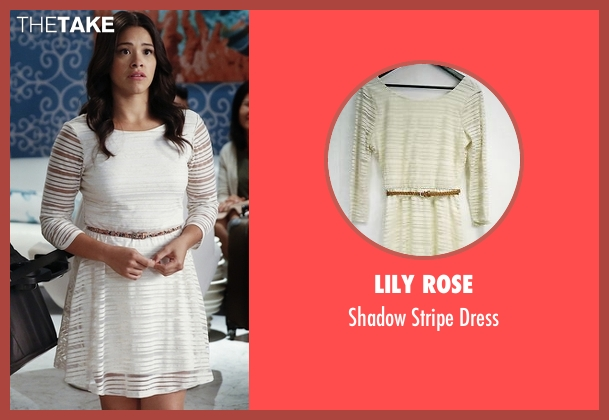 Lily Rose white dress from Jane the Virgin seen with Jane Villanueva (Gina Rodriguez)