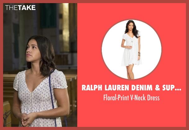 Ralph Lauren Denim & Supply white dress from Jane the Virgin seen with Jane Villanueva (Gina Rodriguez)
