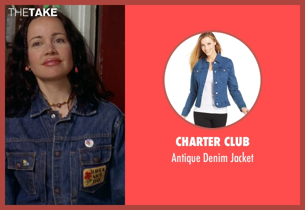 Charter Club blue jacket from Wet Hot American Summer seen with Janeane Garofalo (Beth)