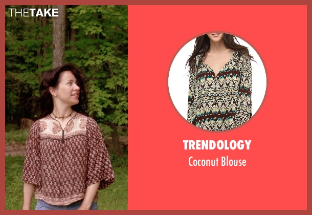 Trendology brown blouse from Wet Hot American Summer seen with Janeane Garofalo (Beth)