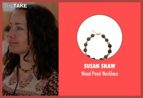 Susan Shaw brown necklace from Wet Hot American Summer seen with Janeane Garofalo (Beth)