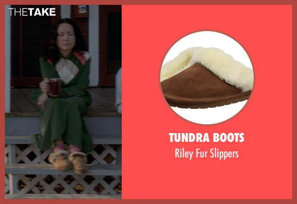 Tundra Boots brown slippers from Wet Hot American Summer seen with Janeane Garofalo (Beth)